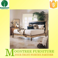 Moontree MBD-1144 teak wood carving modern bed designs