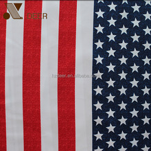 US National Flag Polyester Digital Printed Fabric For Garment