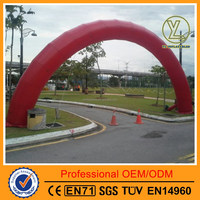 Giant red advertising inflatable arch door for promotion