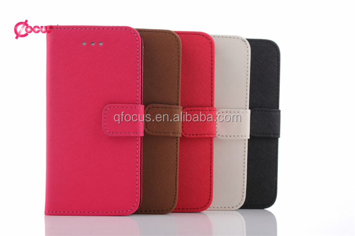 Cross pattern Leather Wallet Pouch Case Cover for note5, flip leather wallet case for note5