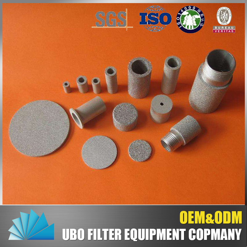 Chemical processing sintered filter elements filter media