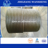 6x19 fc galvanized steel wire cable