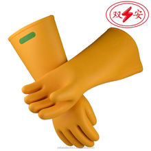 insulating rubber gloves/leather safety glove