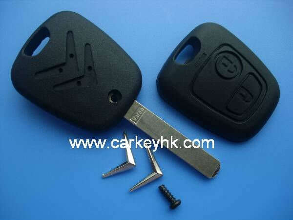 Remote Key Case for CITROEN C1 C2 C3 Pluriel C4 C5 C8 Xsara Picasso Fob 2 Button