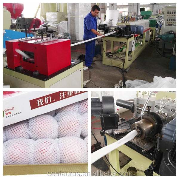 Good quality epe foam fruit bottle net extruding machine paypal accept