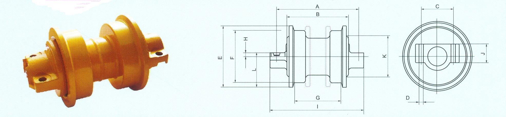 Sell D Flange D6r H Roller Oem No1205766 Friction Welding Bottom Diagram