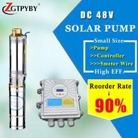 solar pond pump solar submersible pump kits solar water pump for farm