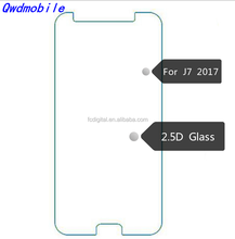 Hot selling 2.5d tempered glass screen protector for samsung j7 pro
