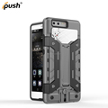 Hot sell holster armor combo case hard bumper cover with kidstand for Huawei P9