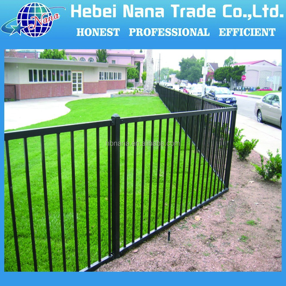 Alibaba China Supplier aluminum picket fence / indoor irn stairs fence / prefab fence panels steel
