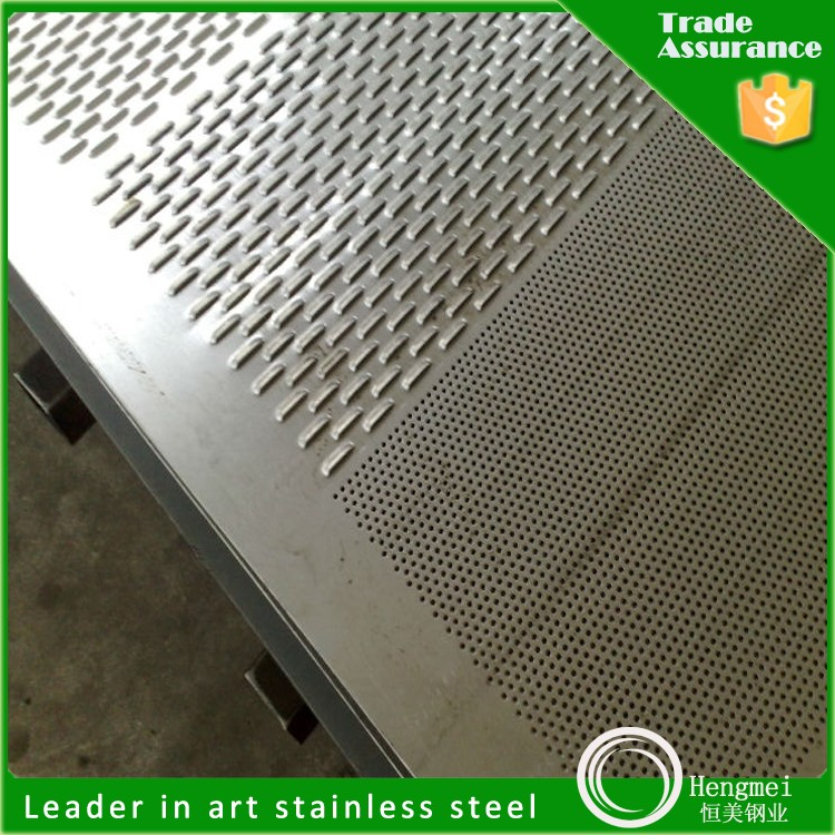 unique style perforate 410 grade cold rolled stainless steel plate at high quality