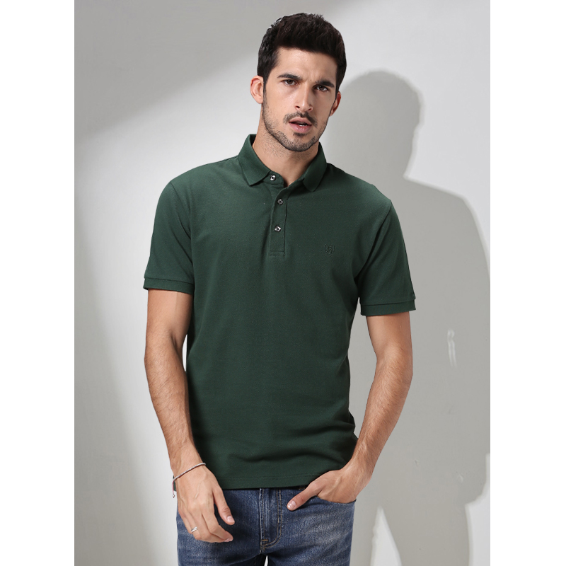customized logo printing blank wholesale high quality pique farbic dri fit Business men's Polo shirt