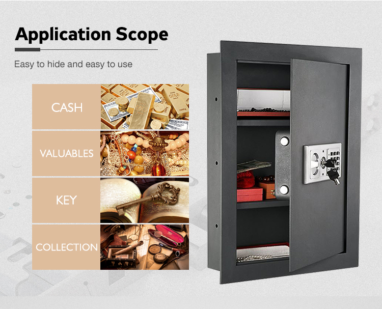 intelligent safes wall key box Steel Wall Safe
