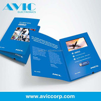 lcd screen brochure video card for business gift /lcd video book for business advertising