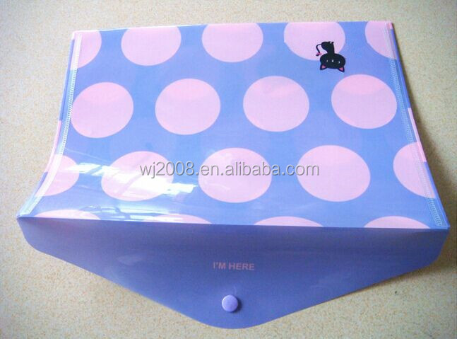 A variety of colors waterproof document bag pp plastic pockets file folder