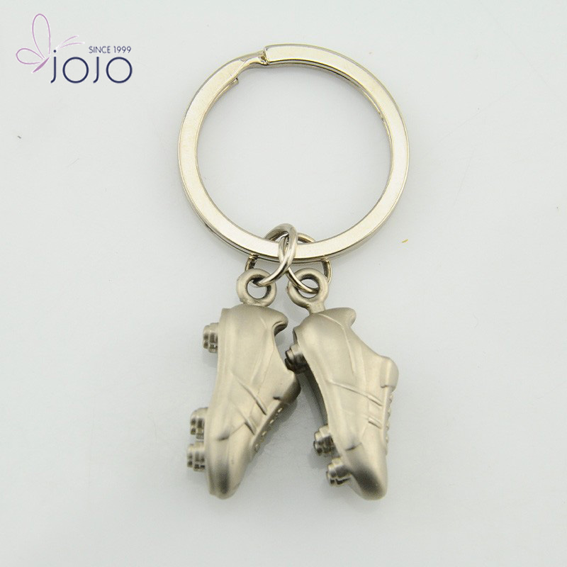 Mini soccer shoes keychain promotional metal key chain for gift