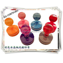 colorful crystal handle flash stamp