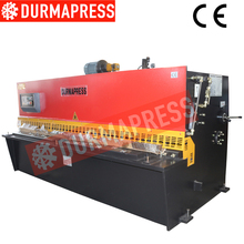 good running cnc QC12YK manual sheet metal shearing machine hydraulic shearing machine price and control panel construction