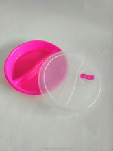 "7"" pp colored plastic disposable plate with lid"