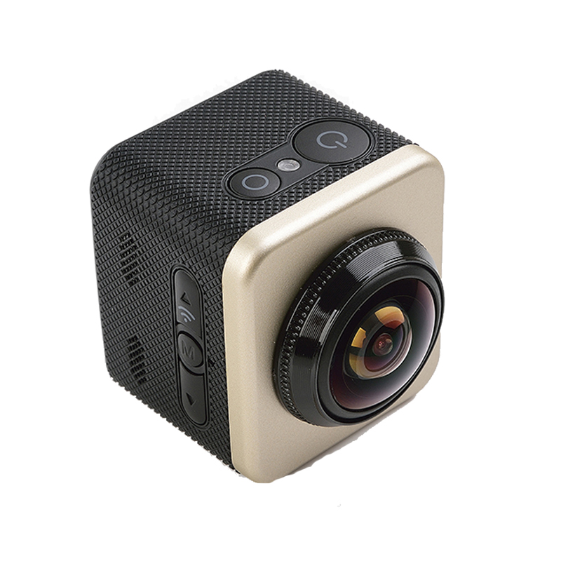 Cube 360S 12 MP 1080P VR 360 Degree Panorama Waterproof Action Camera