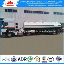 Heavy duty 3 axles used bulk cement tanker truck, bulk cement silo truck trailer
