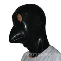 Brand New flesh Latex Rubber animal bird Hood Mask with Zipper Closure HOT (one size)