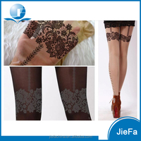2016 hot selling show girls sexy 20D sheer women tattoo pantyhose tights