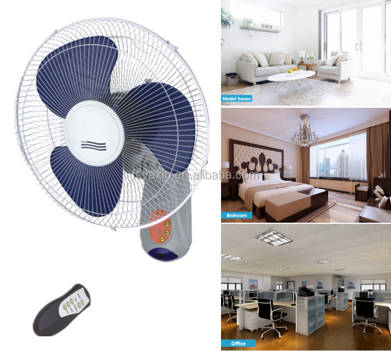 16 inch remote control wall mounted fan oscillating hanging fan