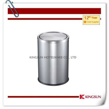 with lid steel table top waste bin