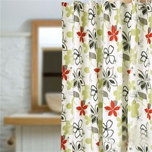 Footprint Flocking Garden Peva Shower Curtain