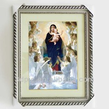 Religious virgin Mary/Jesus/god 3d picture with frame