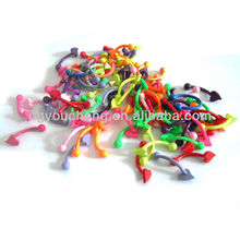 316L stainless steel colorful small magnetic fake eyebrow piercing