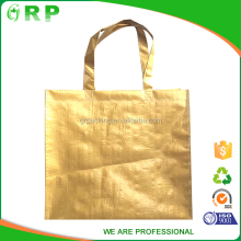 Eco friendly yellow foldable reusable personalized shopping bag