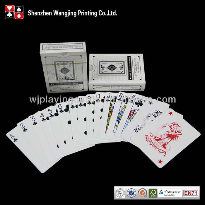 310 Gsm Germany Black Core Paper Custom Poker,Customized Poker Playing Card