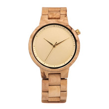 Unbranded product create your own brand fast track sell wrist watches personalised wooden watches made by china supplier