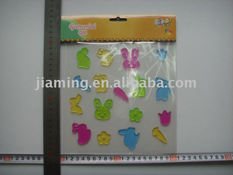 animal bunny window sticker/gel clings/gel sticker ornament