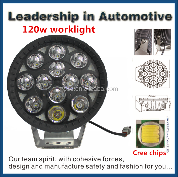 Factory Price 120W Car/Motorcycle/ OFF-Road LED work light, 9-32V led work light,120W 4x4 led light bar