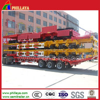 Utility Flatbed Drop Deck Trailer with Sidewalls and Container Locks Optional