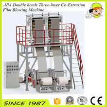 ABA Double head Three Layer Co-extrusion Film Blowing Machine