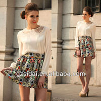 2013 Korean formal desgin long sleeves fashion blouse and skirt SSL009