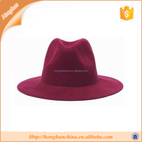 Winter Wide Brim Fake Wool Felt