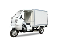 booster rear axle mini trike gasoline cargo van tricycle closed box for sale in Africa