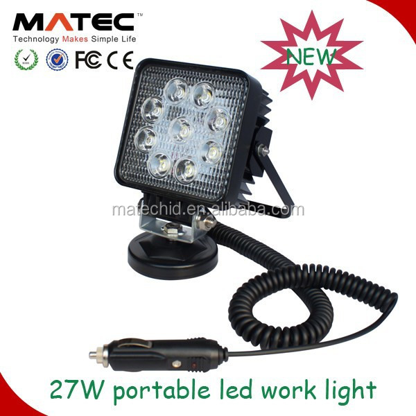 super bright portable 27w led work light portable led battery work light with magnetic base