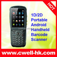 3.5 inch touch screen GSM 3G WCMDA NFC WIFI GPS Android handheld pda barcode scanner 1D/2D optional phone with qwerty keyboard