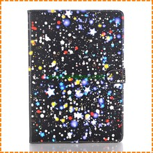 Luxury Painted stars Pattern Stand flip pu leather Cases for ipad air 1 with Card slot