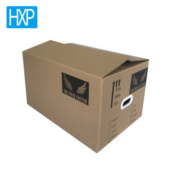 Custom 3-ply board corrugated shipping box brown kraft paper cardboard box