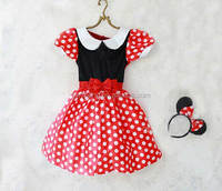 Lovely fashion beautiful red dot princess dress for kids/birthday dress for baby girl