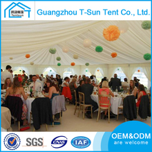 China Made Outdoor Garden Marquee Party Tent Wedding Marquee for Sale with beautiful decorative linings