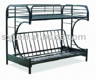 Bazhou Durable Metal Frame Bunk Bed With Sofa Day Bed