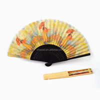 Promotional black color paper folding fan with printing